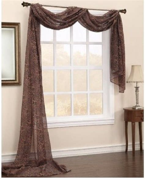 how to put a curtain scarf up 9 best images about curtains on pinterest window