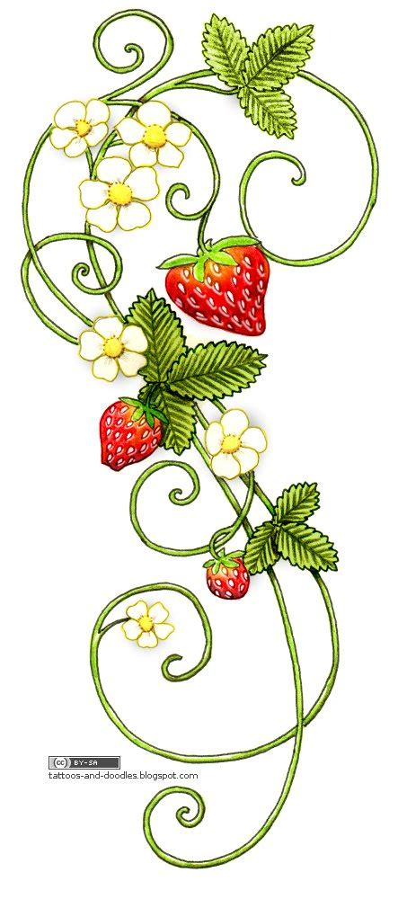strawberry tattoos designs tattoos and doodles strawberries