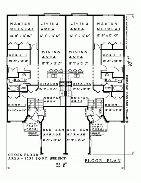 semi detached bungalow house plans semi house plans nauta home designs ontario canada