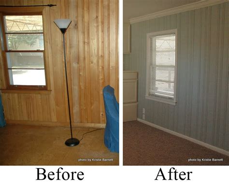 painting paneling before and after photos how to glaze kitchen cabinets for white cabinet