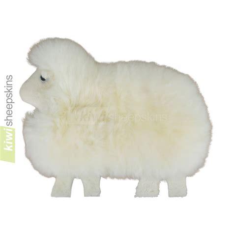 sheep shape sheep shaped cushion pillow made from real sheepskin