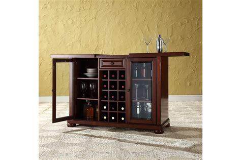crosley alexandria sliding top bar cabinet alexandria sliding top bar cabinet in vintage mahogany