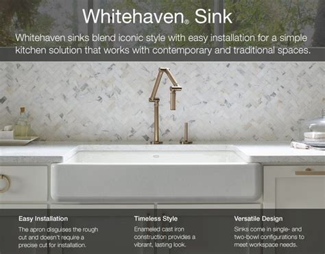 kohler whitehaven farmhouse sink best 25 single bowl kitchen sink ideas on