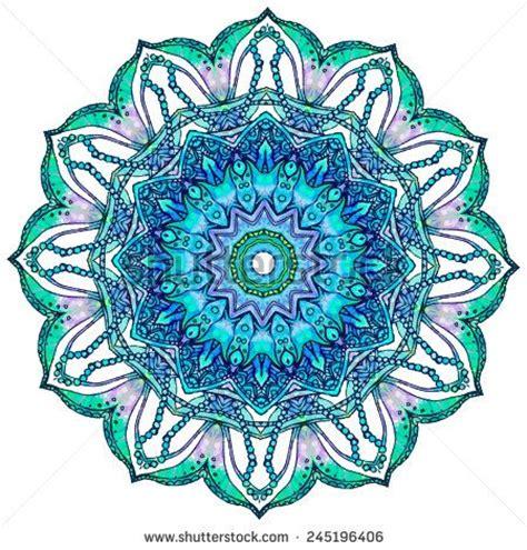 kaleidoscope pattern tattoo ornament beautiful card with mandala geometric circle
