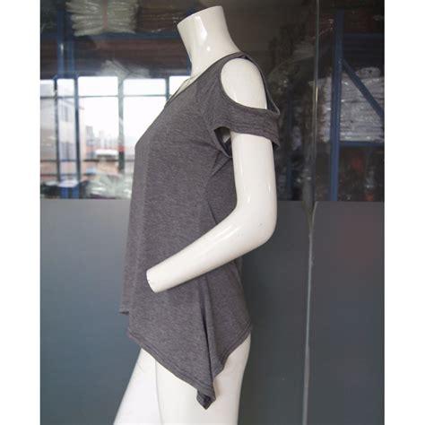 Kaos T Shirt Wanita Black T L Murah Original kaos katun wanita strapless v neck size l t shirt