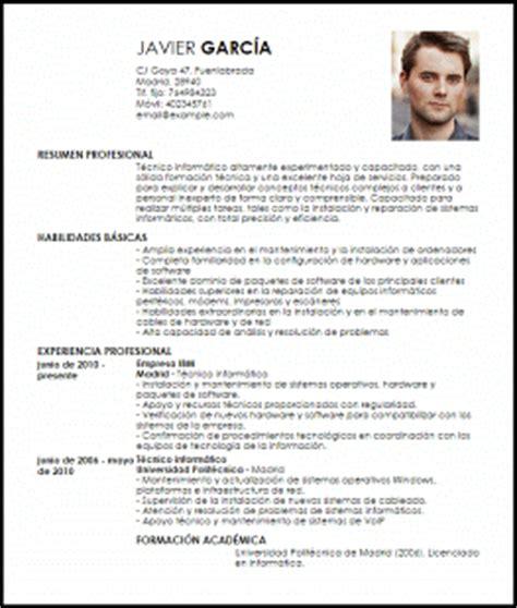 Modelo Curriculum Vitae Tecnico Informatica Modelo Curriculum Vitae T 233 Cnico Inform 225 Tico Livecareer
