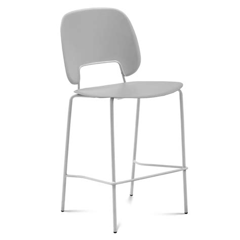 White Or Gray Stool by Modern Bar Stools Trajan White Gray Stool Eurway