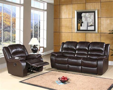 Reclining Leather Sofa Set Abbyson Living Reclining Sofa Set Ashlyn Ab 55ch 8801 Brn 3 1