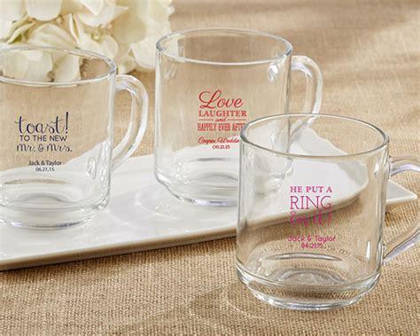 Wedding Favors Mugs by Personalized 10 Oz Glass Coffee Mug Wedding