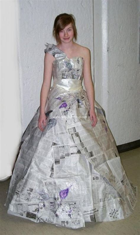 Formal News by Recycled Newspaper Dresses Recycled Things