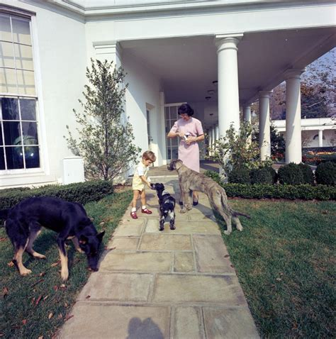 kennedy house st c363 1 63 john f kennedy jr with family dogs