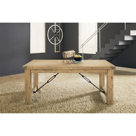 rustic wood dining table with leaves modus international autumn 8fm261 rustic solid wood dining