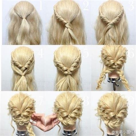 easy updos for medium hair with directions hair tutorial braids pinterest tutorials hair style