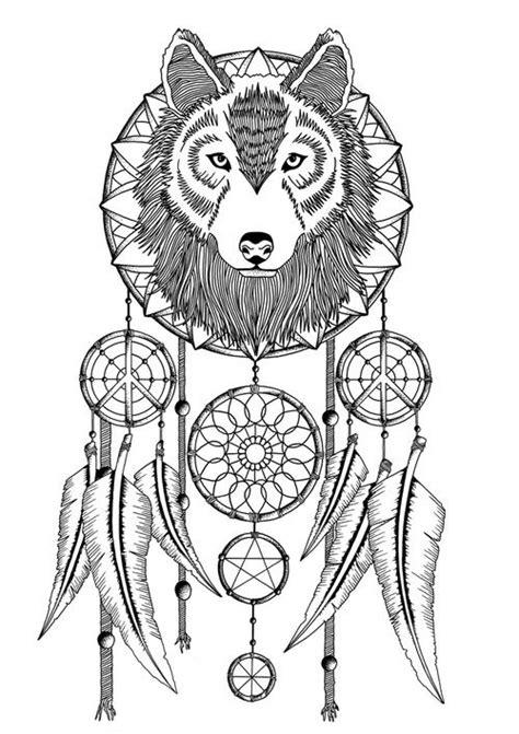 wolf dreamcatcher tattoo tumblr droomvangers vanger and dromenvanger tatoeages on pinterest