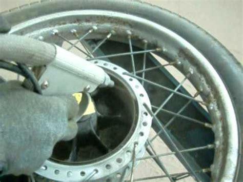 Motorrad Felgen Mit Speichen Pulverbeschichten by Sandstrahlen Felgen Nsu Youtube