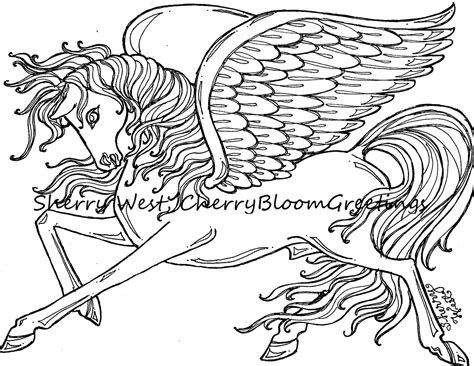 coloring pages of horses with wings 1 pegasus winged coloring page sherry west drawing