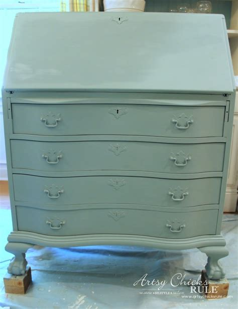 chalk paint queensland desk makeover w duck egg blue 3 colored waxes