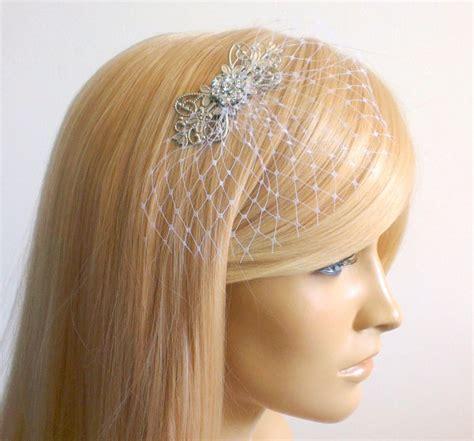 Wedding Hair With Small Veil by Small Veil Bridal Bridal Hair Wedding