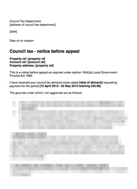 Appeal Letter Council Tax Council Tax Letter Before Appeal Tenant Not Given Correct Notice Grl Landlord Association