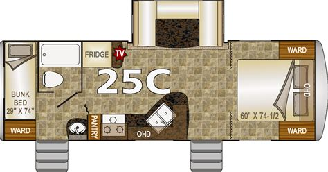 Nash Travel Trailer Floor Plans | northwood build a nash 25c travel trailer
