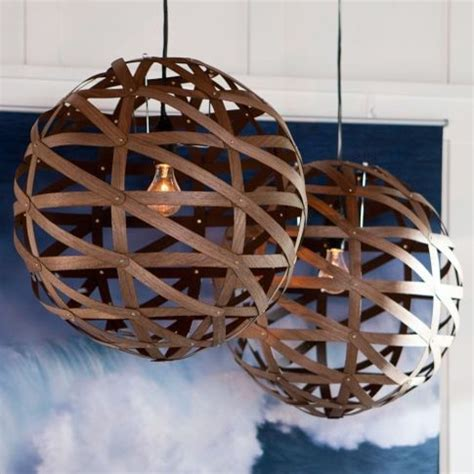 Wood Veneer Pendant Light Austen Wood Veneer Pendant Contemporary Pendant Lighting By Pbteen