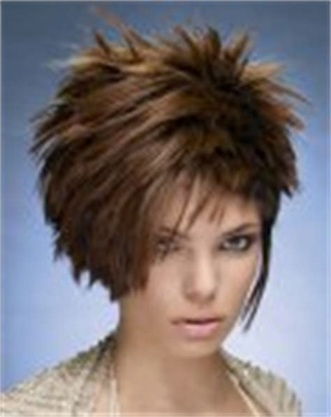 short spiked chopped long hair chopped in multiple lengths from spiky short to