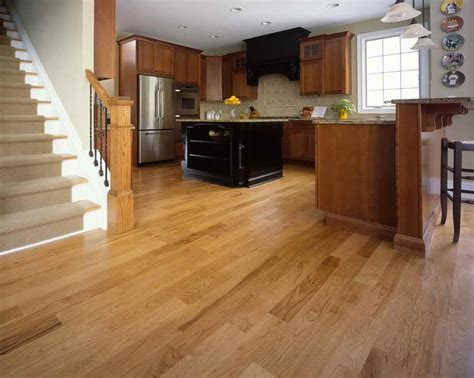 natural hickory floor kitchen natural hickory flooring for home with window glass