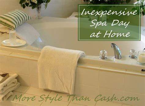 inexpensive spa day at home