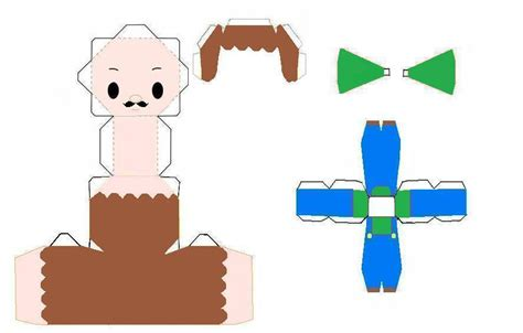 Luigi Papercraft - chibi luigi papercraft by scaly green on deviantart