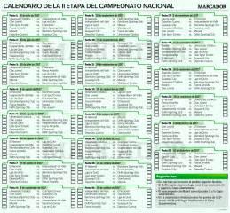 Calendario De Futbol 2017 Calendario De La Segunda Etapa Ceonato Ecuatoriano