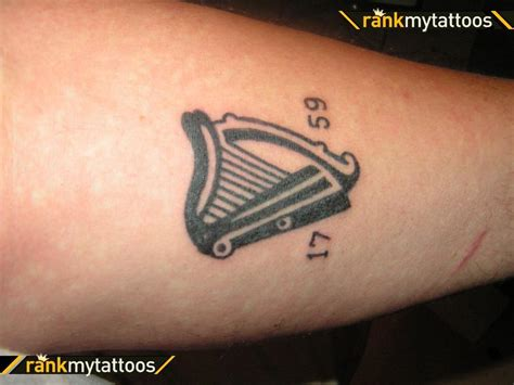 irish harp tattoo tattoos and designs page 9