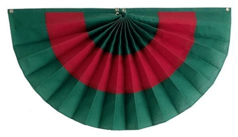 christmas pleated flag bunting  stripe green red ebay