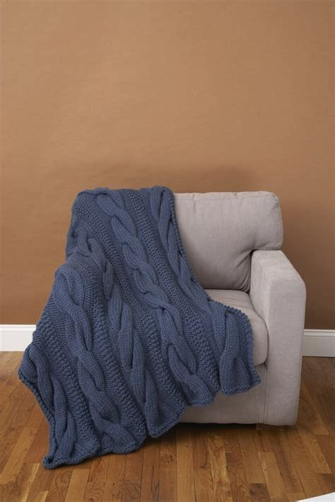 faux cable scarf in lion brand wool ease thick quick cable comfort throw lion brand wool ease thick quick