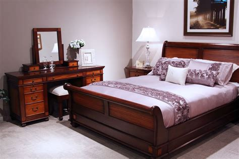 Mahogany Bedroom Suite | chelmsford mahogany 4 piece tallboy bedroom suite