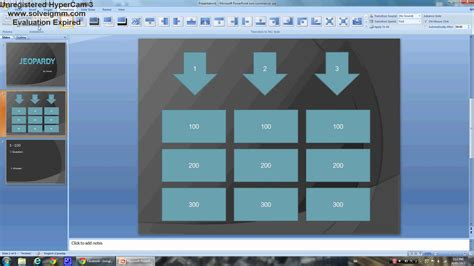 Power Point How To Create An Easy Jeopardy Game Youtube Create Your Own Jeopardy Powerpoint