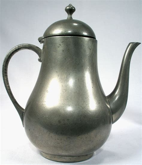 Kdm Daalderop Royal Holland Pewter Art Deco Tea Coffee Pot Sugar Cream from utiques antiques on