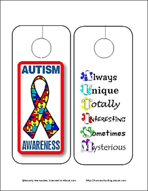 printable autism awareness bookmarks autism awareness wordsearch vocab crossword and more