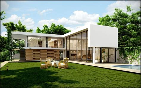 Modern Bungalow House Plans L Shaped Modern House Plans Modern House Plan