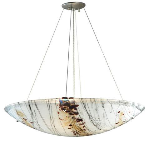 Inverted Bowl Pendant Lighting Meyda 107806 Ramoscelli Fused Glass Inverted Pendant