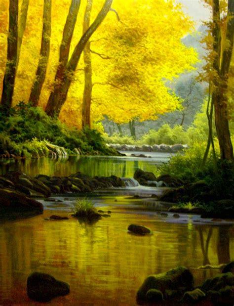 imagenes de paisajes oleo pinturas cuadros lienzos paisajes