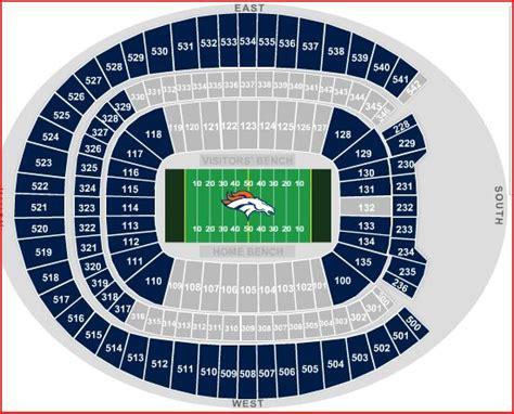 denver broncos stadium seating chart denver broncos seating chart denver broncos seating