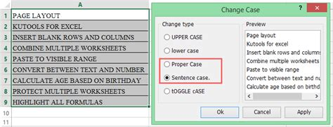 excel format uppercase first letter how to change all caps to lowercase except first letter in