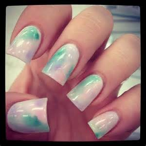 cute nail design in pastel colors