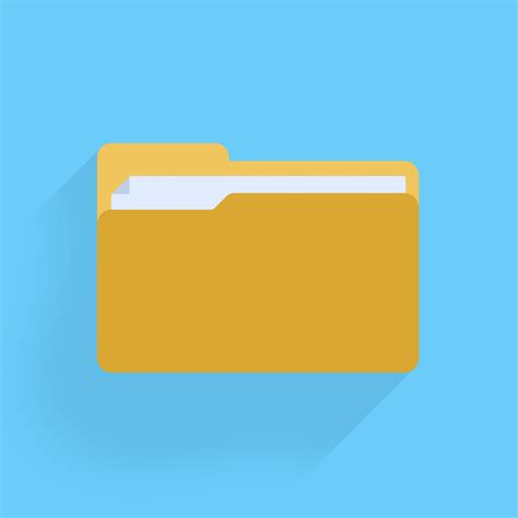 design icon folder flat folder icon protium design