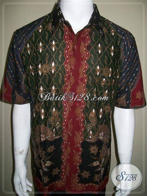 kemeja batik milo motif matahari ukuran large besar xl batik tulis ld296 xl