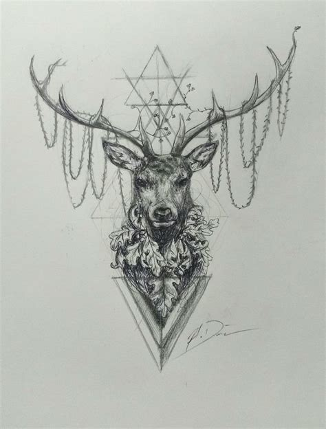 25 best ideas about geometric deer on pinterest deer collection of 25 deer tattoo
