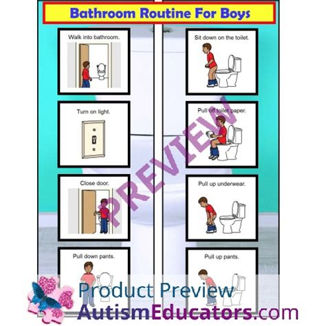 bathroom routine visuals bath visual schedule pictures to pin on pinterest pinsdaddy