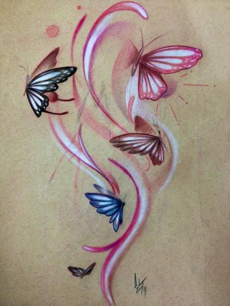 tattoo flash butterfly off the map tattoo original art tattoo flash design