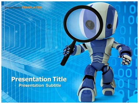 robotics themes for powerpoint technology templates http www templatesforpowerpoint