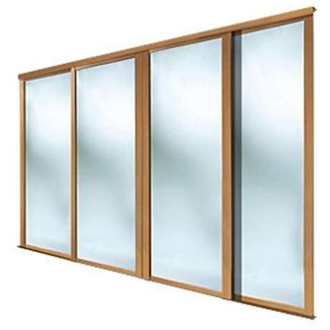 spacepro 4 door framed sliding wardrobe mirror doors
